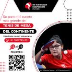 Convocatoria de voluntarios para el ITTF Panamerican Championships 2021